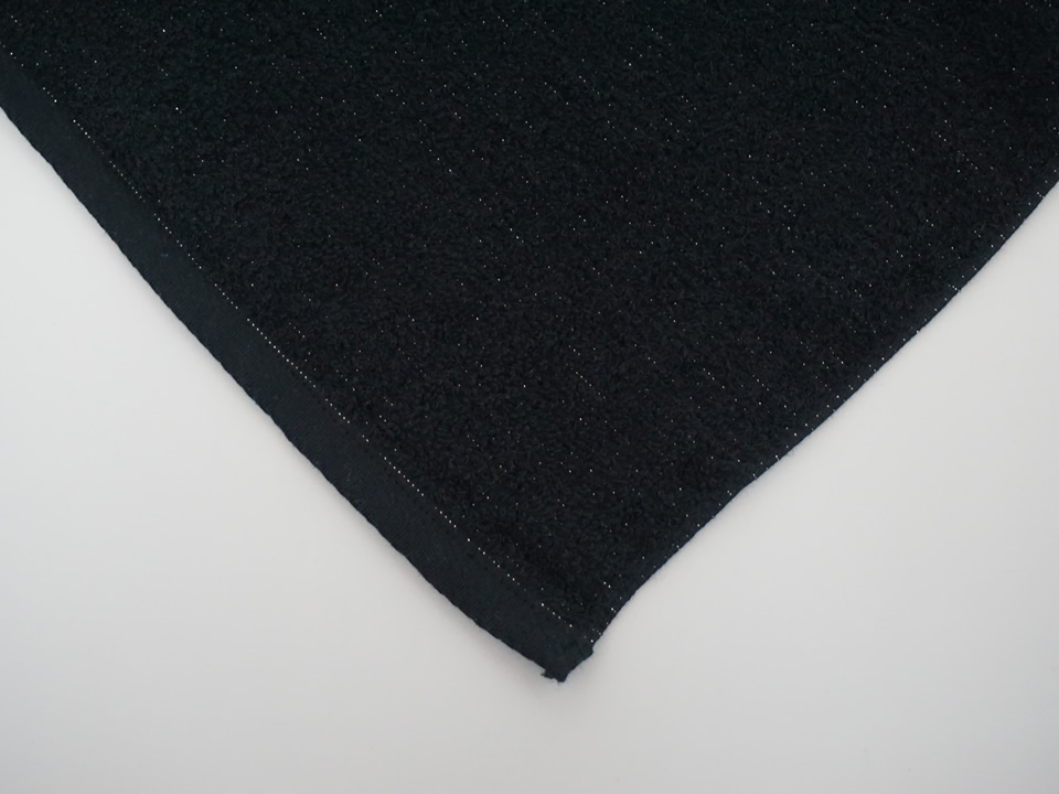 純銀の糸ミューファン® 抗菌フェイスタオル 黒