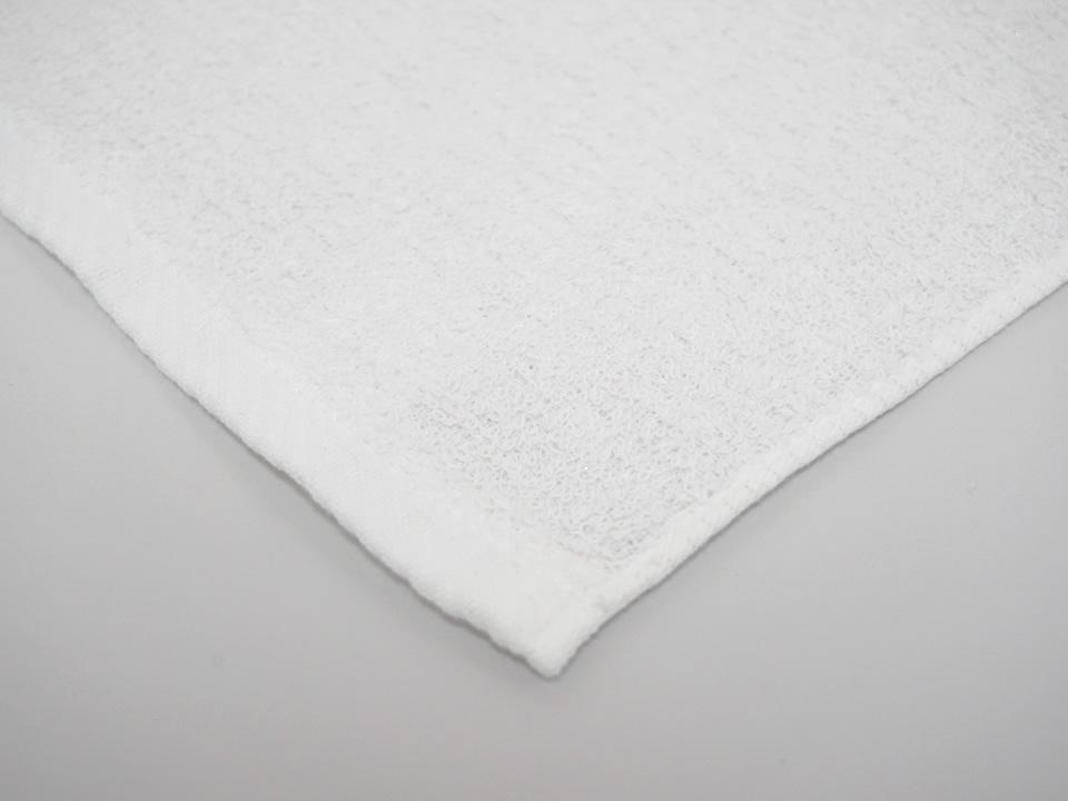 純銀の糸ミューファン® 抗菌フェイスタオル 白
