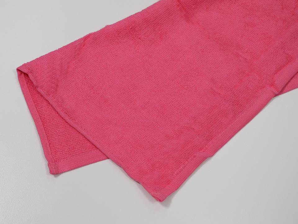 スレン染おしぼり/ウォッシュタオル ピンク